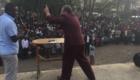 Pastor Kim preaches in Narok, Kenya